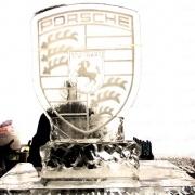 Porsche dealership opening - ice sculpture