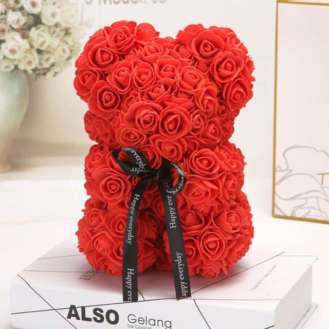 Künstliche Blumen Rosen Bär 25cm