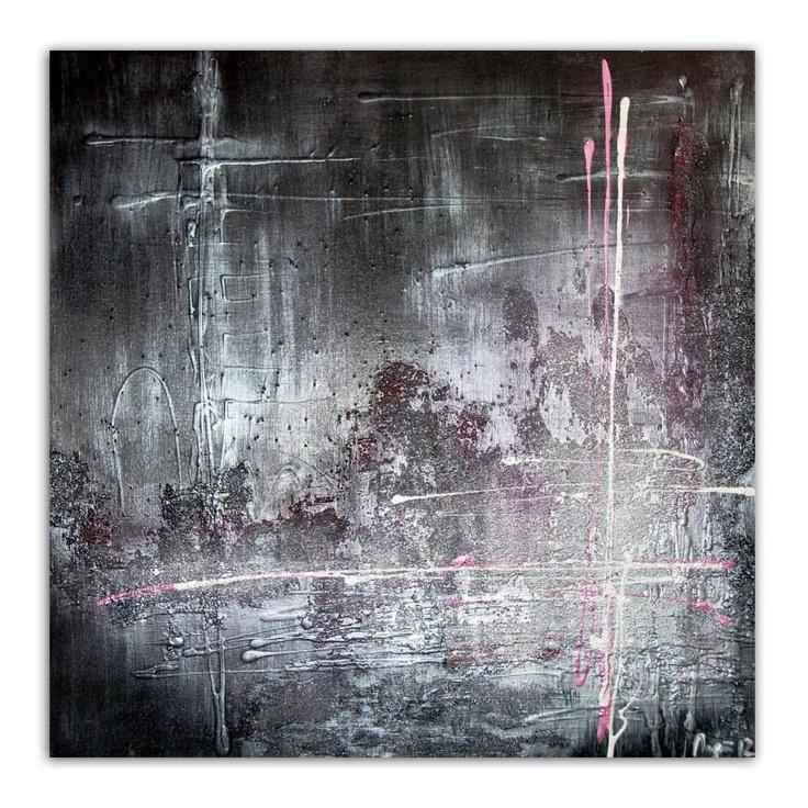 Acrylic on 24x24 canvas using Glass Bead Gel