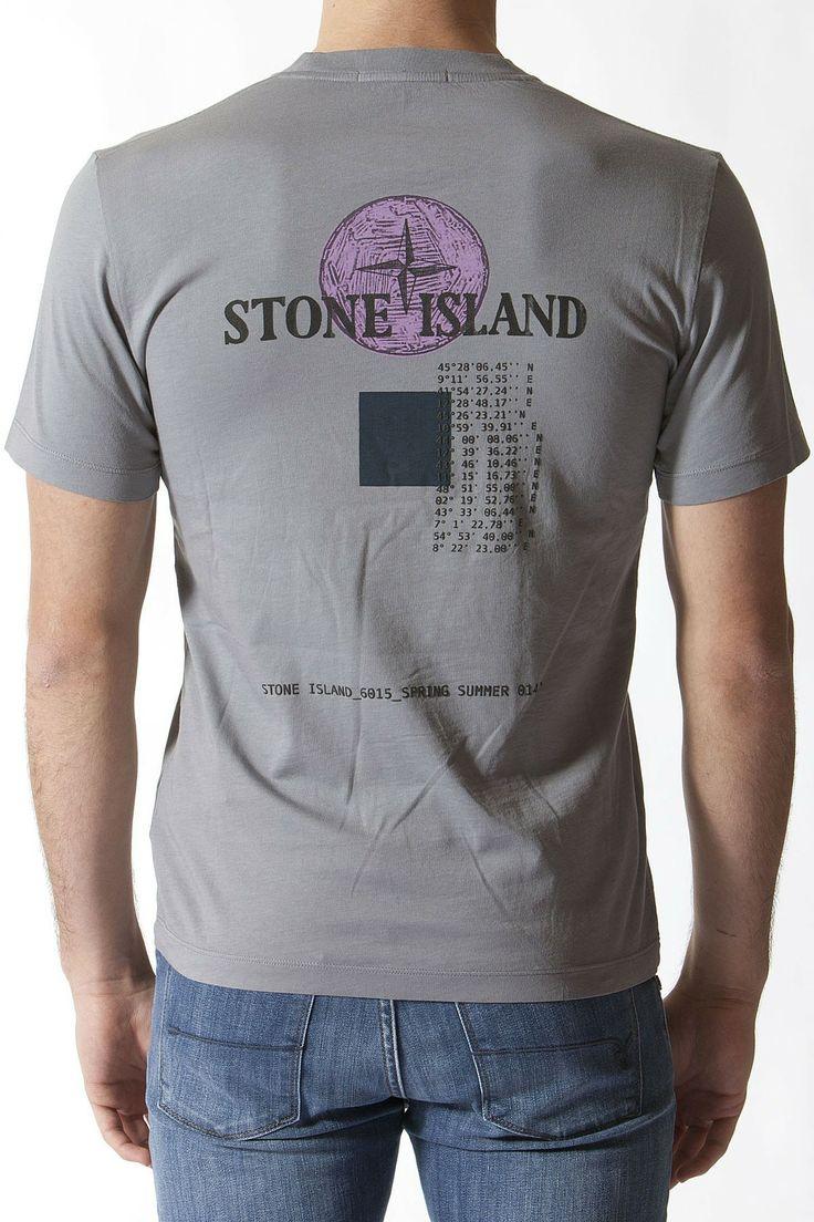 STONE ISLAND Gray t-shirt for men spring summer 2014