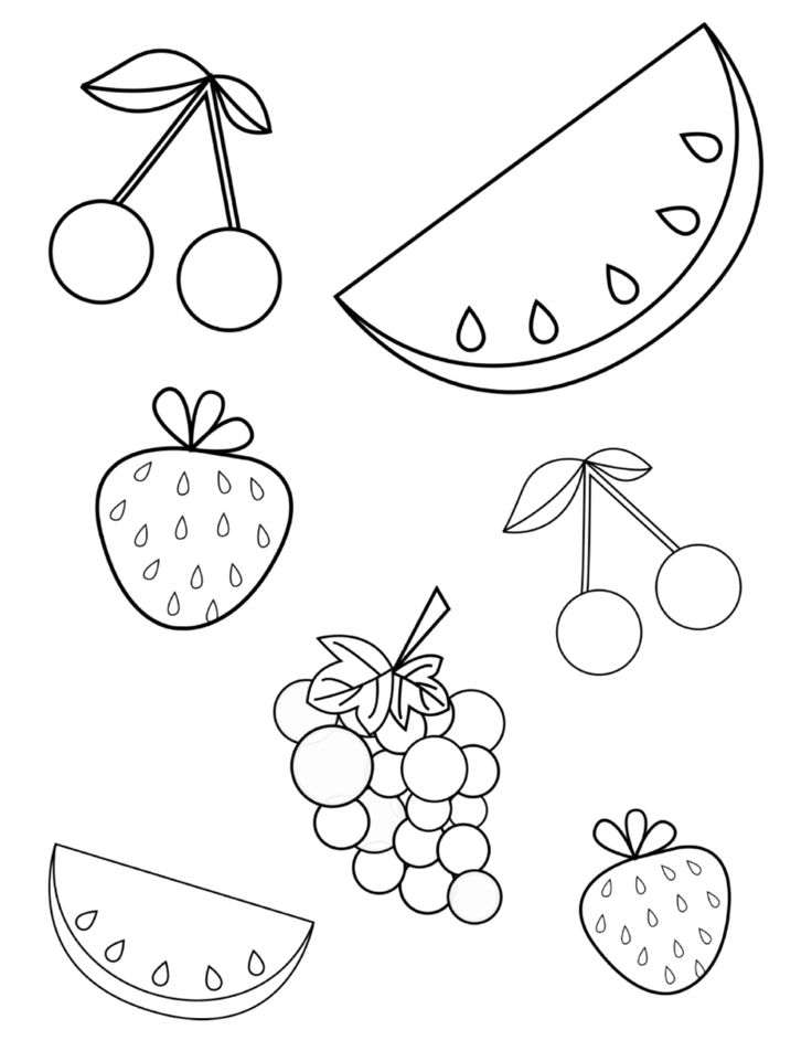 FREE Summer Fruits Coloring Page