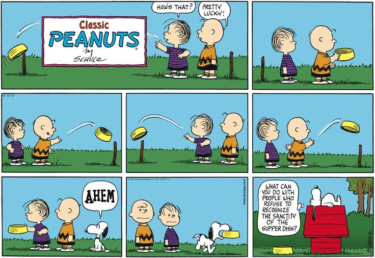 October 10, 2010 - the sanctity of the supper dish | Charles M. Schulz - Philosophy | Pinterest ...