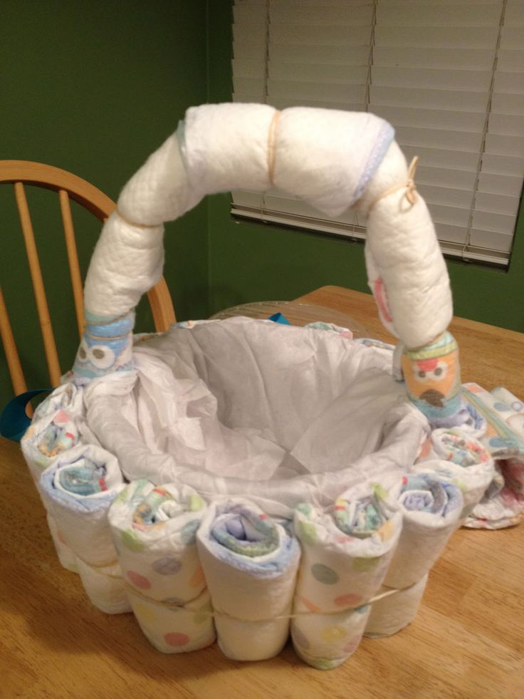 Baby Gift Ideas Using Diapers : Best ideas about diaper basket on baby