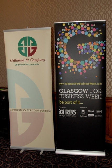 GFBW pop-up stand & Gilliand & Co stand. You can see the sponsors & partners from 2011 displayed here
