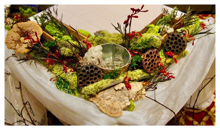 A charming nature inspired sweetheart tablescape awaiting the bridal flowers at Harry's Savoy Ballroom.