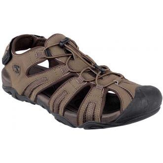 Svršek těchto pánských outdoorových sandálu CHOPER M tvoří PU a tricot. Podešev je vyroben z Phylonu a TPR. Špička je chráněna syntetickým překrytím. Stahování na gumičku a pásek přes patu.