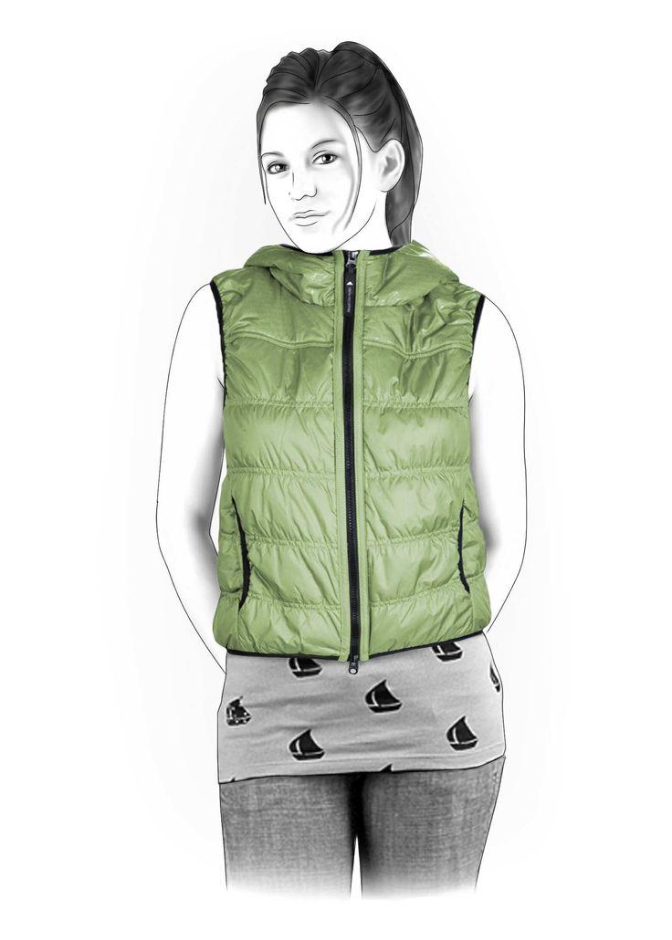 Hooded Waistcoat - Sewing Pattern #4204