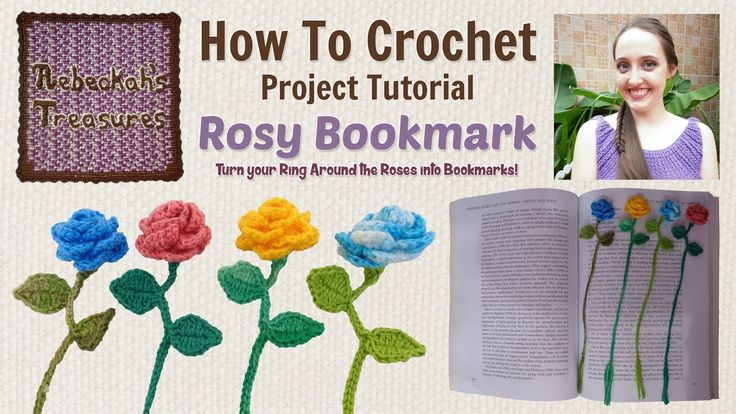 Ring Around the Rosy Bookmark ~ Crochet Tutorial - YouTube