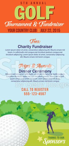Golf tournament invitation flyer with female golfer for Golf tournament budget template