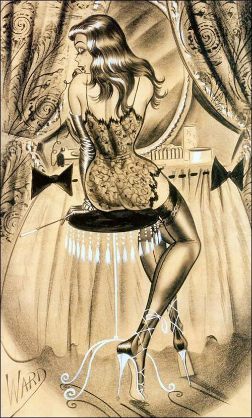 vintagegal:    Illustration by Bill Ward c. 1960's