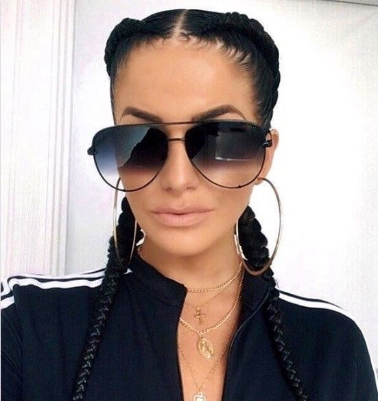 "Big Aviator  /""KEY/"" OVERSIZED FLAT LENS Women Sunglasses Shades SHADZ MIRROR"