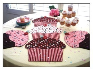Cupcake Party Place Mats Table Runner Sewing Pattern