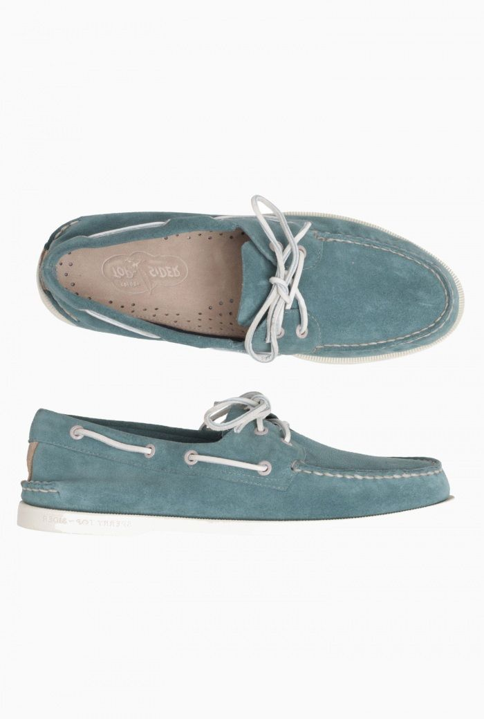 Mens Sperry Suede Deck Shoe- Turquoise £85.00