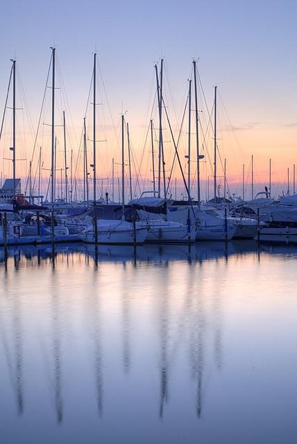 Le barche e la tranquillità del porto