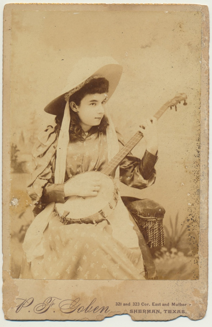 best images about women banjos girls fabulous banjo girl albumen cabinet card sherman texas