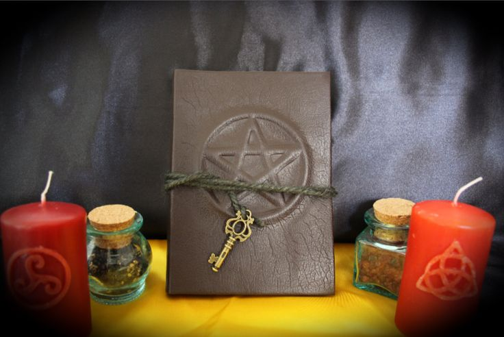 """Libro delle Ombre """"Brown Pentacle"""" by LittleSorcerer on Etsy"""