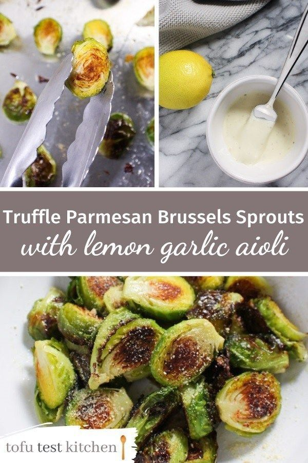 Roasted Brussels sprouts are already good. Then you add truffle oil, parm, and aioli, and it tastes like restaurant food…