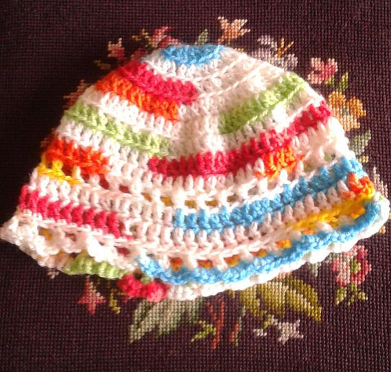 Handmade spring weight crochet hats for toddlers and babies