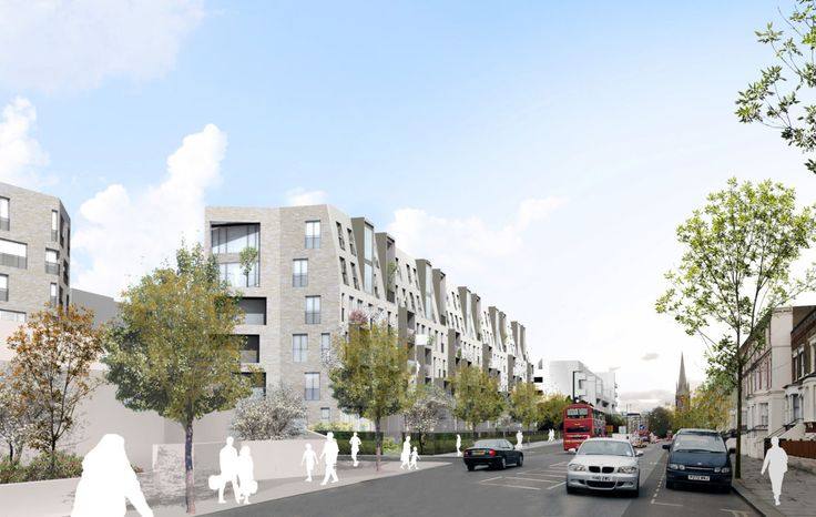 Alison Brooks Architects _ South Kilburn Estate Regeneration _ Bronte and Fielding _ View from Park Road