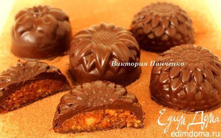 Шоколадные конфеты с миндалем и апельсином | Кулинарные рецепты от «Едим дома!»