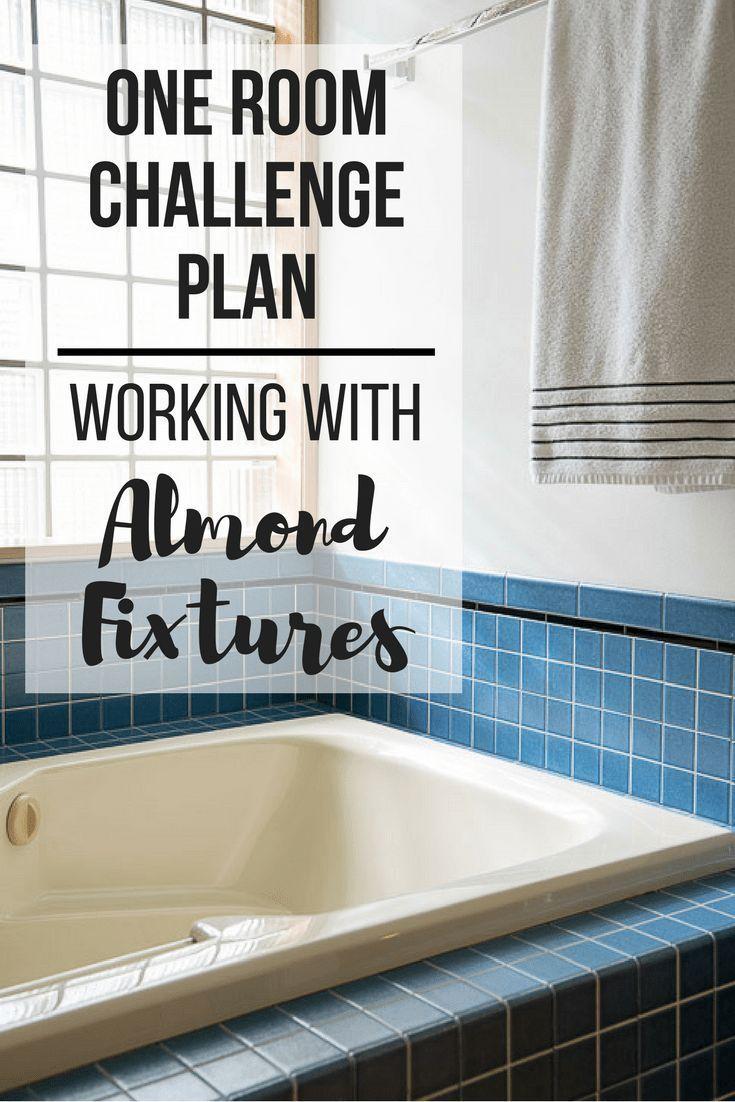 Designing Around Almond Bathroom Fixtures In 2020 Bathroom Fixtures Cream Bathroom Color Bathtub