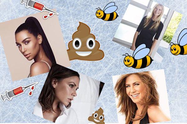 7 странных вещей которые делают звезды чтобы прекрасно выглядеть #ВикторияБекхєм #ГвинетПэлтроу #лед #красота #Кожа #лицо #КейтМосс