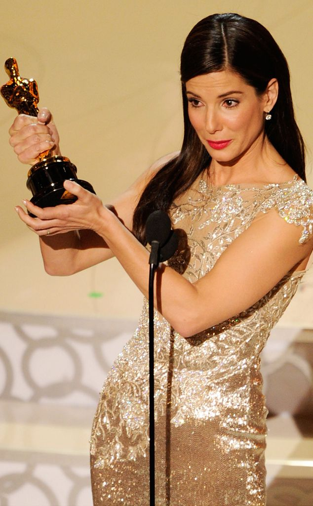 The peppy actress won both a Razzie, for All About Steve, and an Oscar, for The Blind Side, in the same year, 2010.