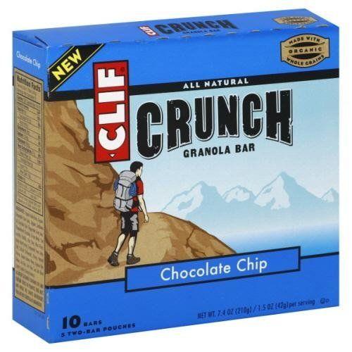 Clif Crunch Organic Chocolate Chip Bar (125-1.5oz) Review http://10healthyeatingtips.net/clif-crunch-organic-chocolate-chip-bar-12x5-1-5oz-review/