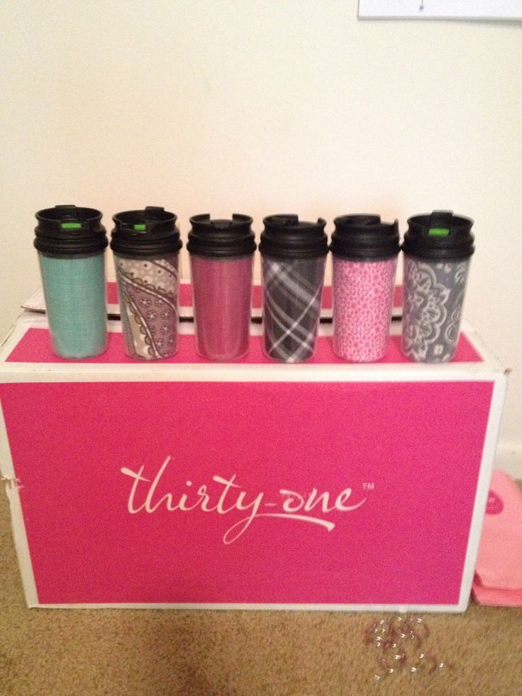 Thirty One party favors - Retired Swatches fits into the Dollar Tree mug perfectly.  www.mythirtyone.com/kimdobbs