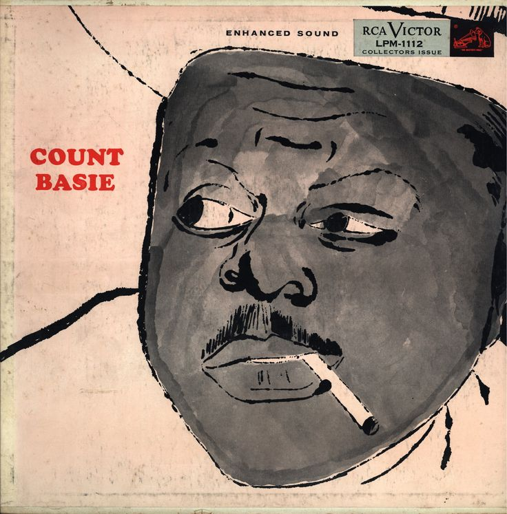 """Count Basie - Count Basie And His Orchestra, Released in 1955 on RCA Victor Records #LPM-1112 Cover done by """"Andy Warhol"""""""