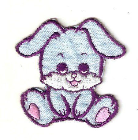 Bunny Rabbit Embroidered Iron On Patch Applique Badge Children Cartoon Patch