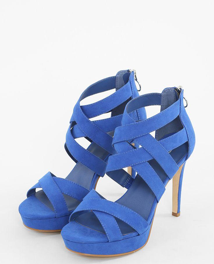 Sandales à talons hauts bleues