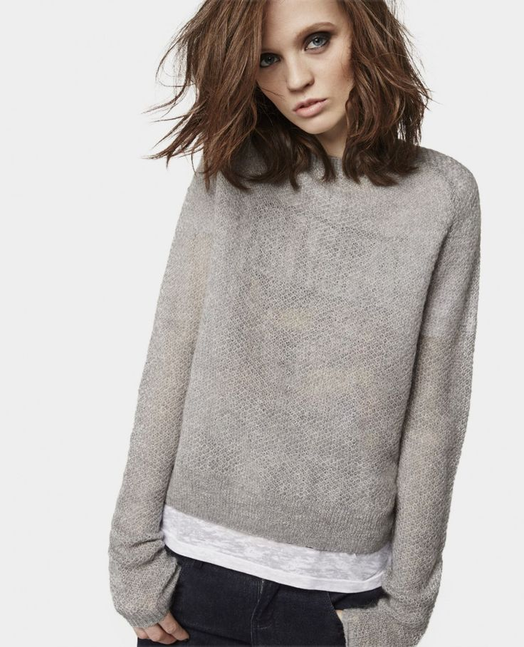 Back Zip Mohair Sweater