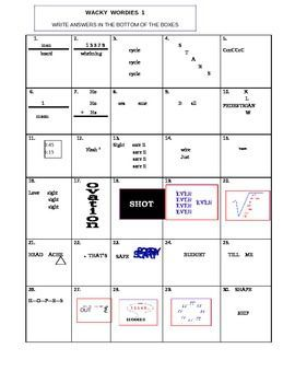 Worksheets Wacky Wordies Worksheets 1000 ideas about word puzzles on pinterest rebus logic wacky wordies and words