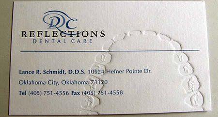 Dentist...cool business card idea