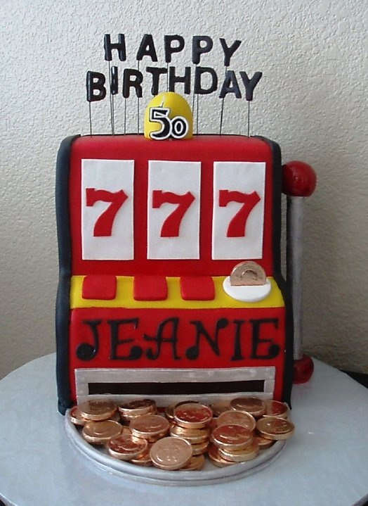 slot machine cake - great for my mother's 70th