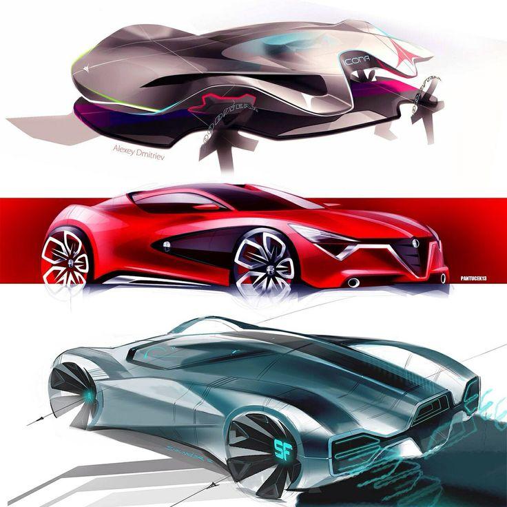Various car sketches