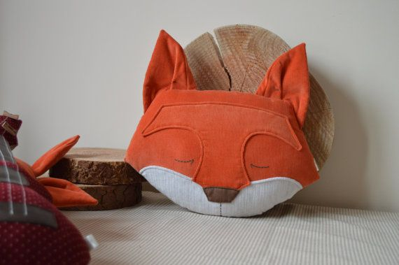 Fox Cushion Fox Pillow Plush Fox Stuffed Fox Woodland by midgins