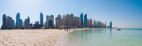 Dubai Panorama  photography on canvas by michalphotography on Etsy, $360.00