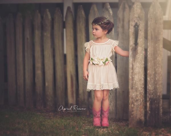 Rustic Flower Girl Dress – Fleur and Lace Boutique