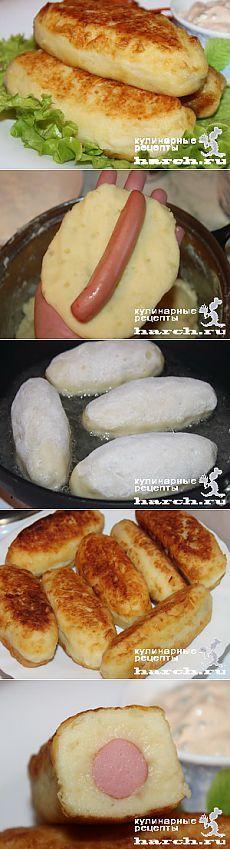 Сосиски в картофельном пюре   Харч.ру - рецепты для любителей вкусно поесть