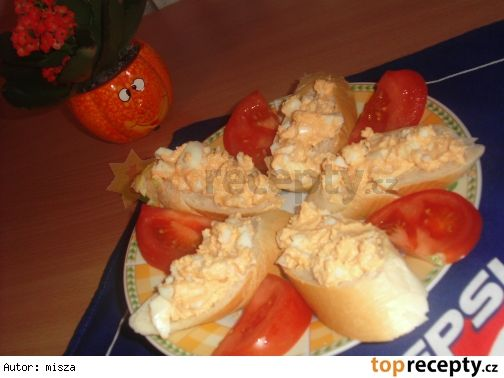 Vaječná pomazánka s kečupem