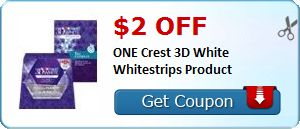 Tri Cities On A Dime: SAVE $2.00 ON CREST 3-D WHITE WHITESTRIPS PRODUCT