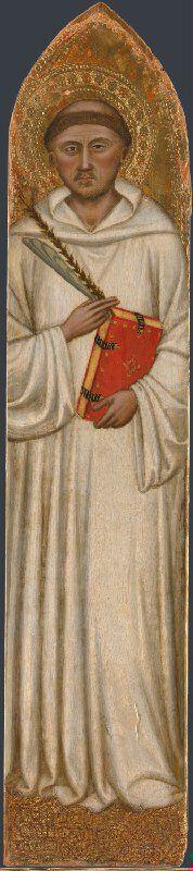 Jacopo di Cione e laboratorio - Pala di San Pier Maggiore: San Bruno Bonifacio (pilastrini laterali) - 1370-1371 - National Gallery, London