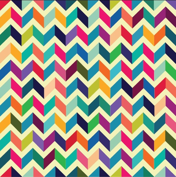 Rainbow chevron pattern. Love the color scheme and the interesting design.