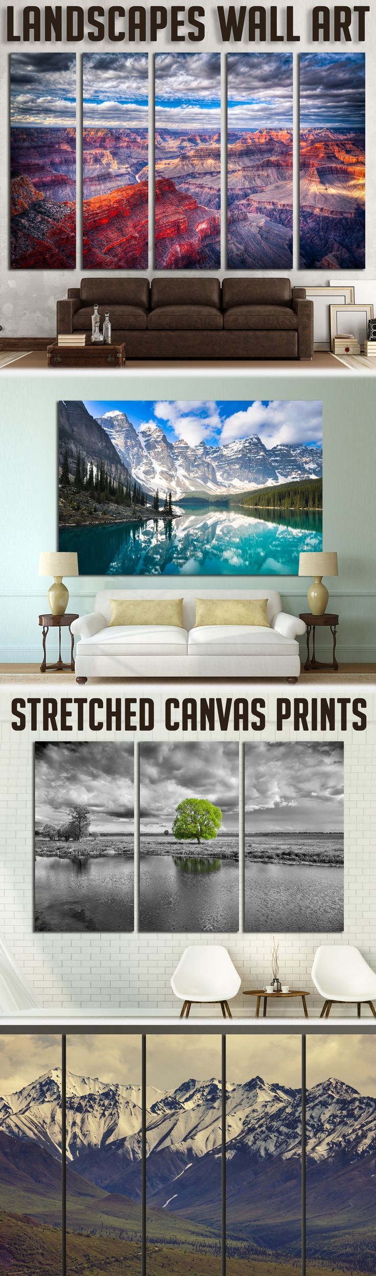 Scenic Landscape Wall Art for Home & Office decoration.