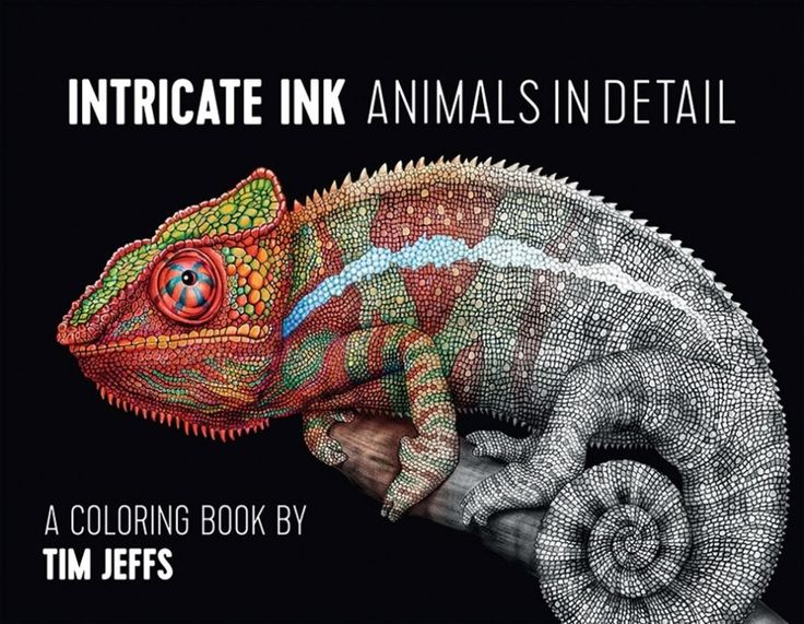Intricate Ink Animals In Detail For Colorers Who Never Get Frustrated With Complicated Illustrations