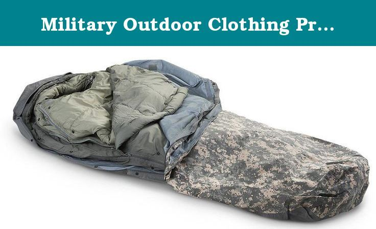 Military Outdoor Clothing Previously Issued U.S. G.I. Improved ACU Digital Modular Sleeping Bag System (5-Piece). The Military Outdoor Clothing 5-Part Modular Sleep System sleeping bags and other components are constructed to be used in conjunction with each other, or separately to complete system. The modular sleep system is designed to provide comfort in temperature ranging from 50 degrees F to -40 degrees F when wearing various layers of extreme cold weather clothing. Patrol Sleeping…