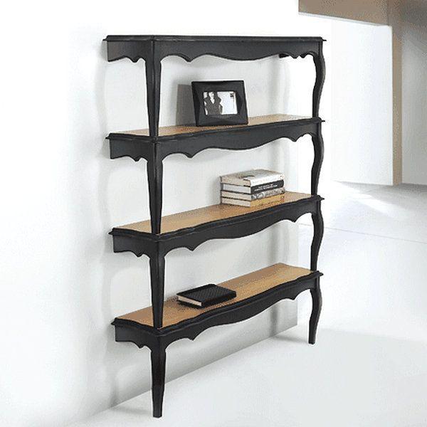 Raum mit DIY Bücherregalen schwarz idee