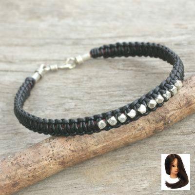 #black #bracelet #braided #braided Bracelet #Hill #leather    – Fashion